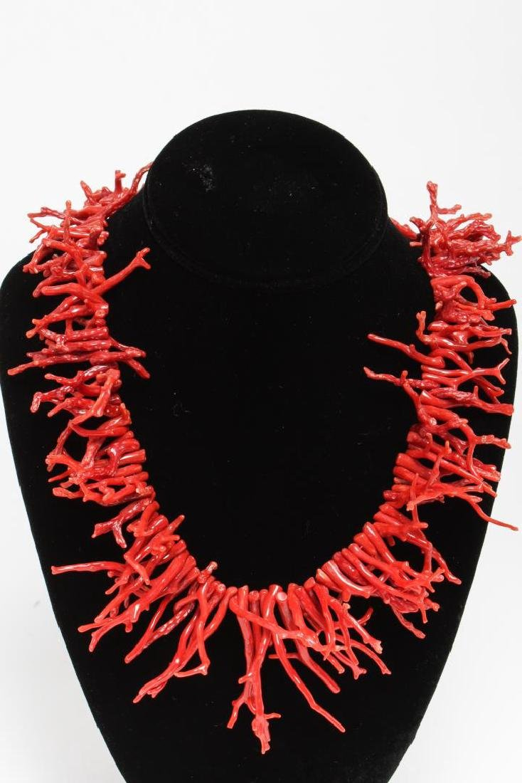 Spiny Coral & Rock Crystal Necklaces - 2