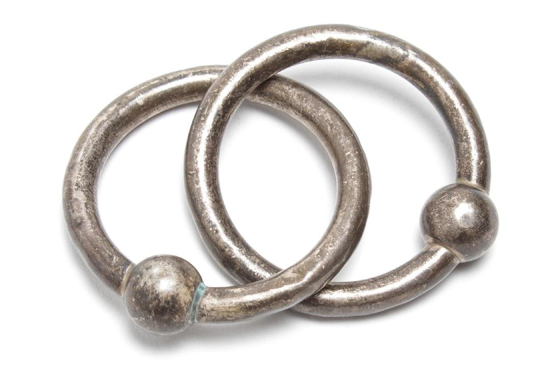 Tiffany & Co. Silver Double Teething Ring Rattle