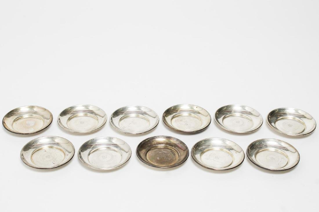 Whiting & Sons Sterling Silver Nut Dishes, 11