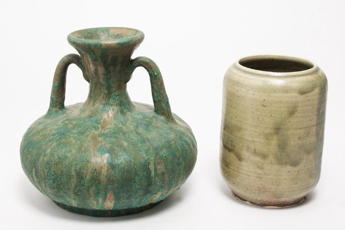Glazed Studio Art Pottery Vases, 2 Pieces