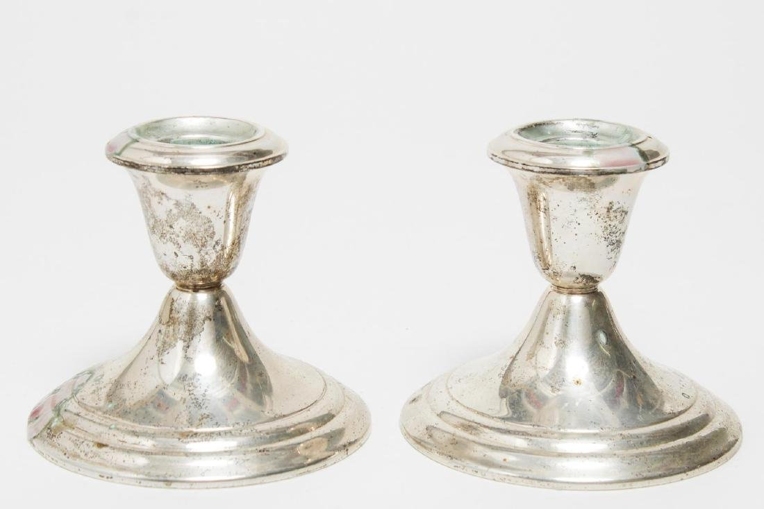 Gorham Weighted Silver Candlesticks, Pair