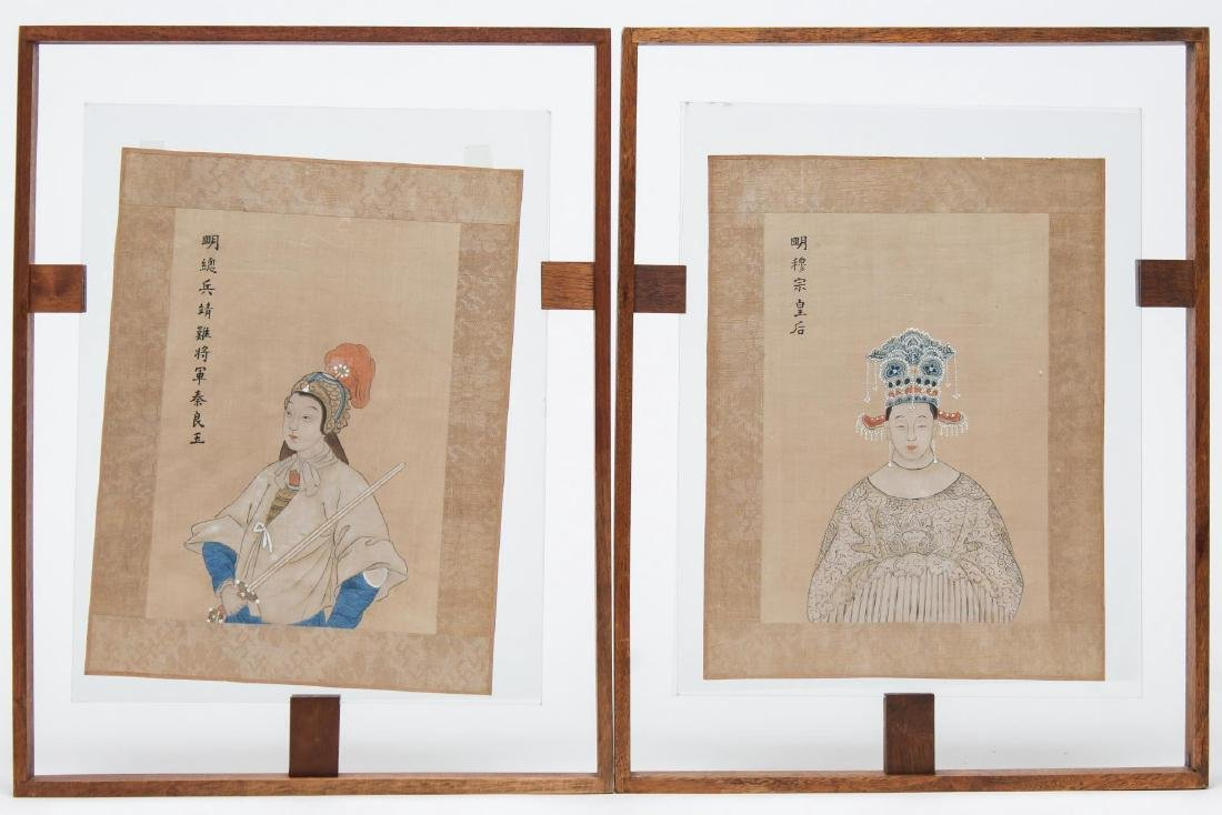 Chinese Inks on Silk, Classical Portraits, 2