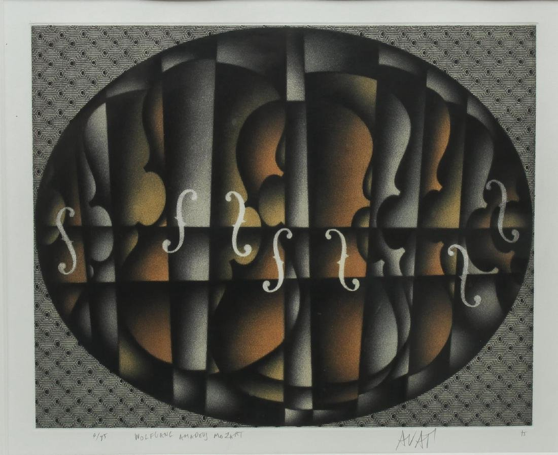 Mario Avati (French, 1921-2000)- Mezzotint