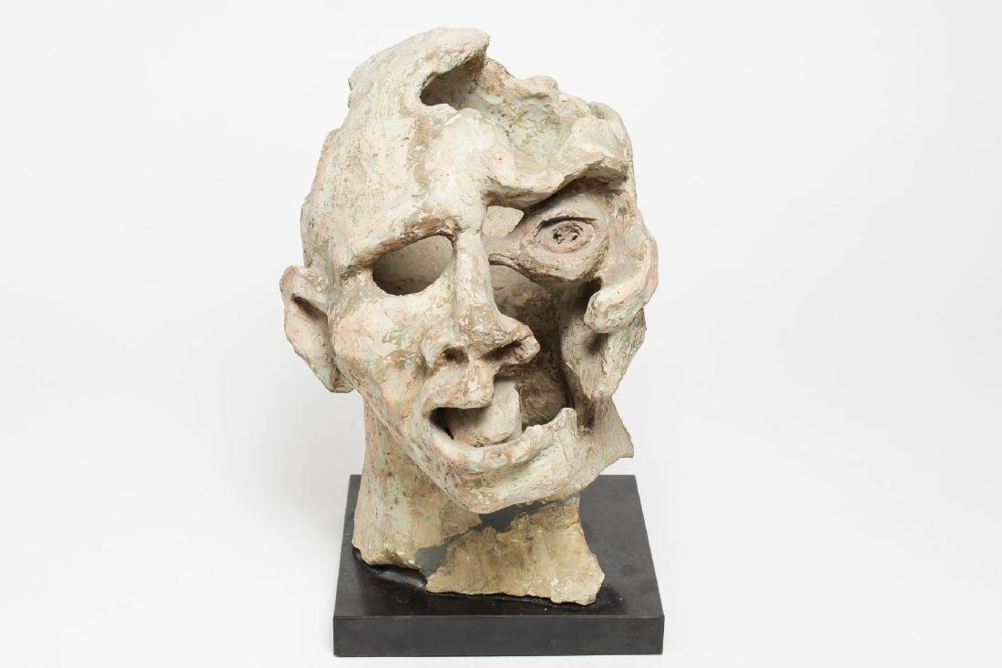 Mid-Century Modern Clay Sculpture- Head of a Man