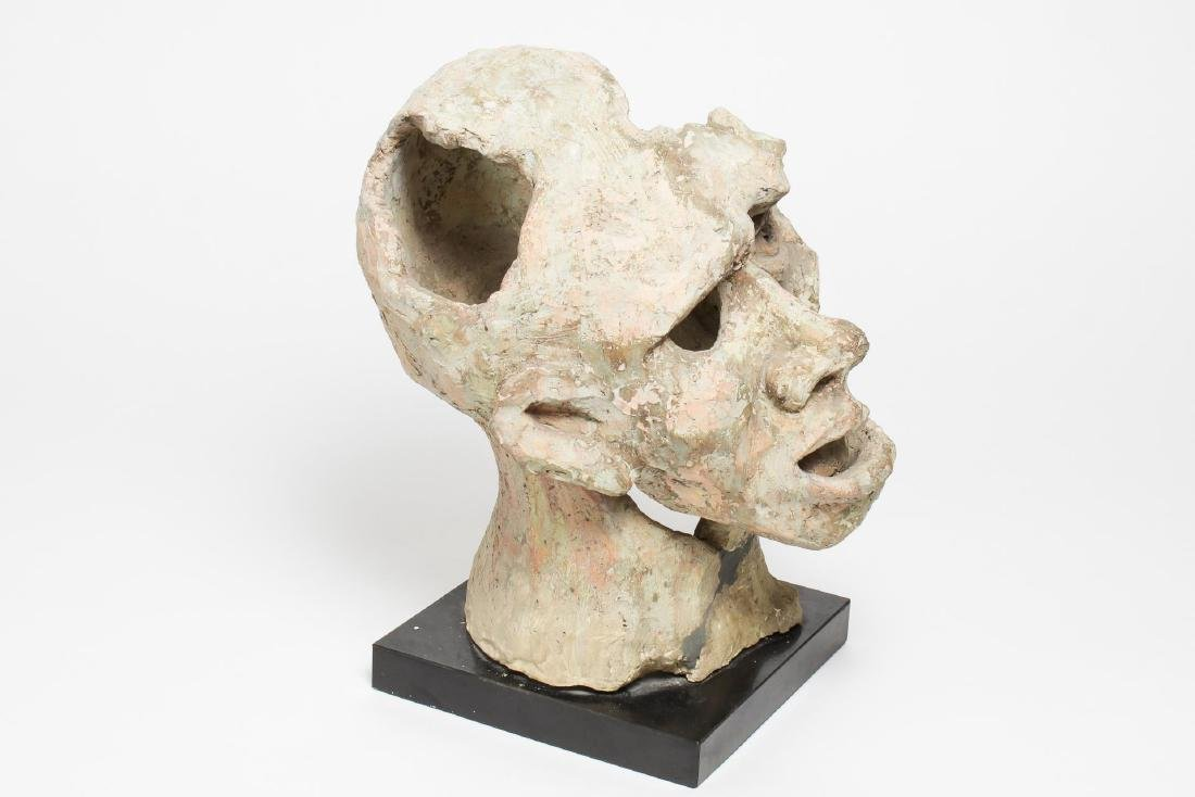 Mid-Century Modern Clay Sculpture- Head of a Man - 2