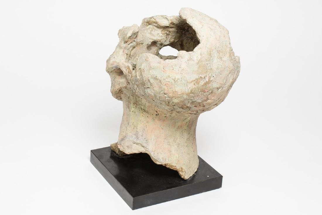 Mid-Century Modern Clay Sculpture- Head of a Man - 3