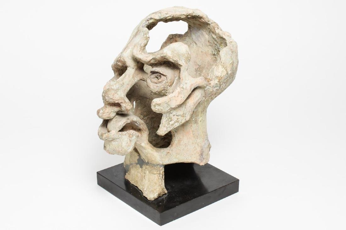 Mid-Century Modern Clay Sculpture- Head of a Man - 4