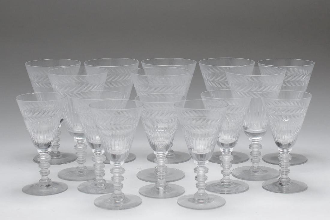 Cut Crystal Stem Glasses, 15 pieces