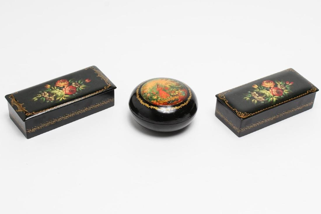 Russian Lacquer Trinket Boxes, 3
