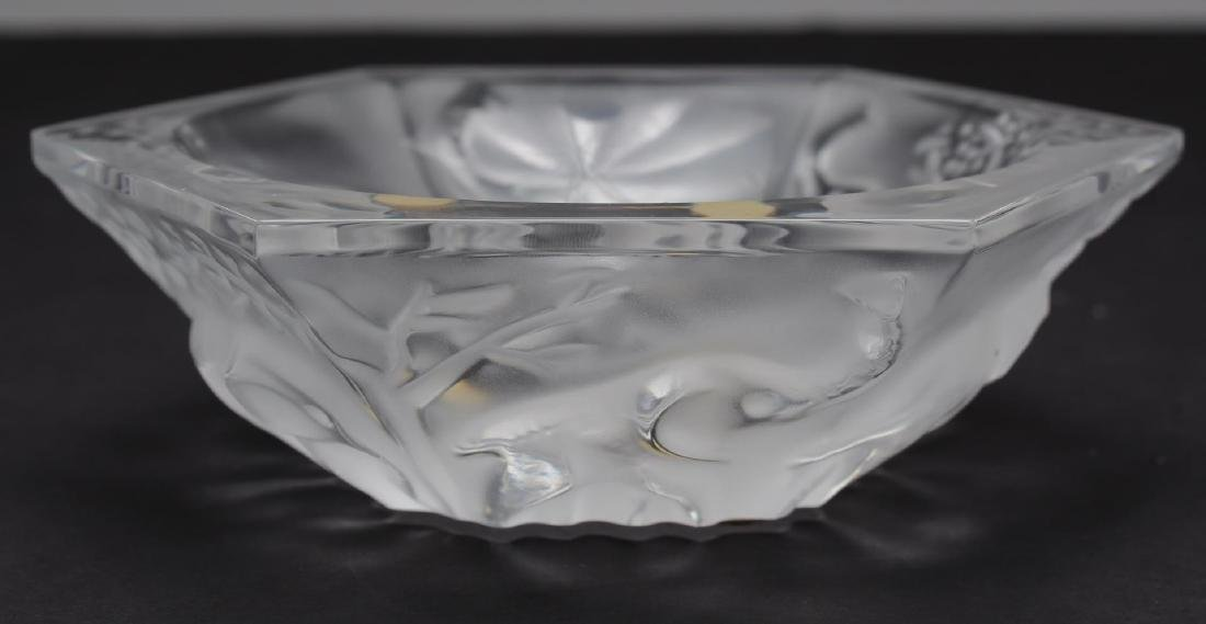 Baccarat Crystal Hexagonal Elephant-Motif Bowl
