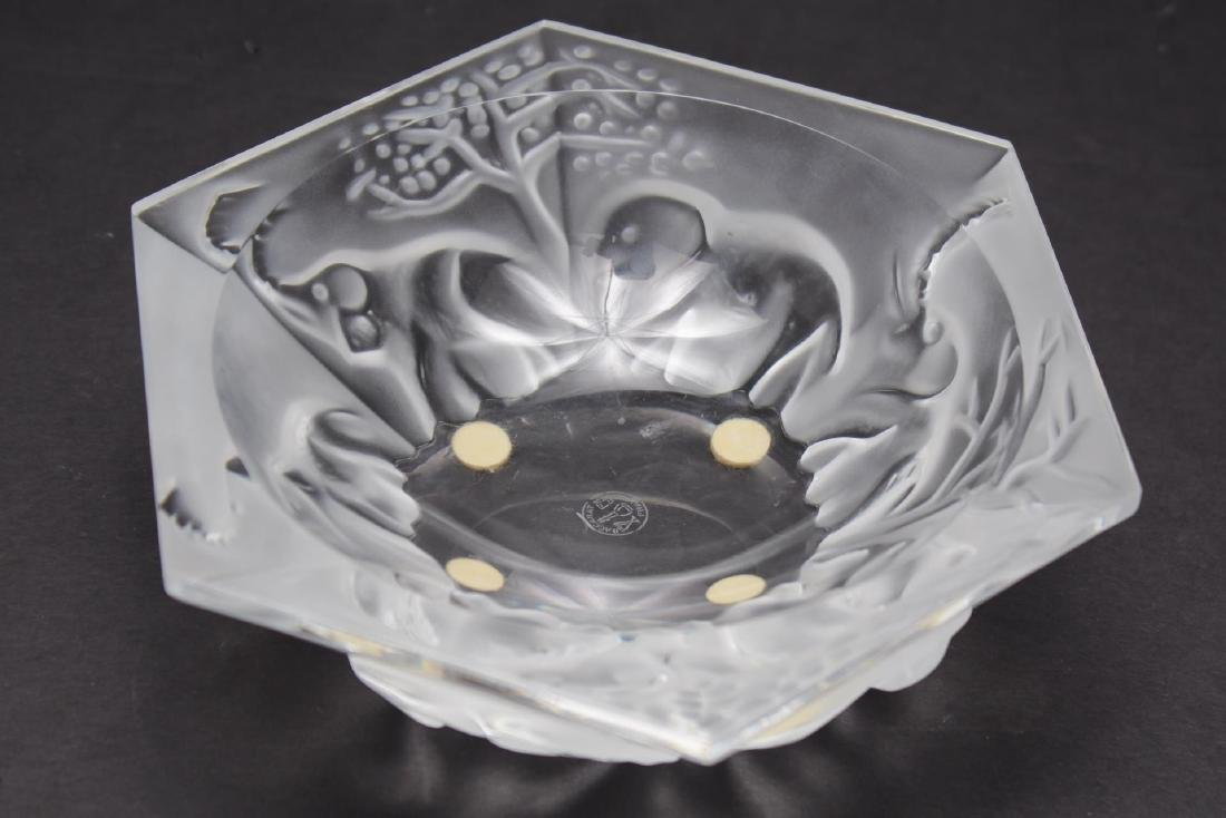 Baccarat Crystal Hexagonal Elephant-Motif Bowl - 2