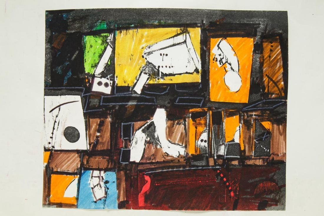 John Hultberg (American, 1922-2005)- Work on Paper