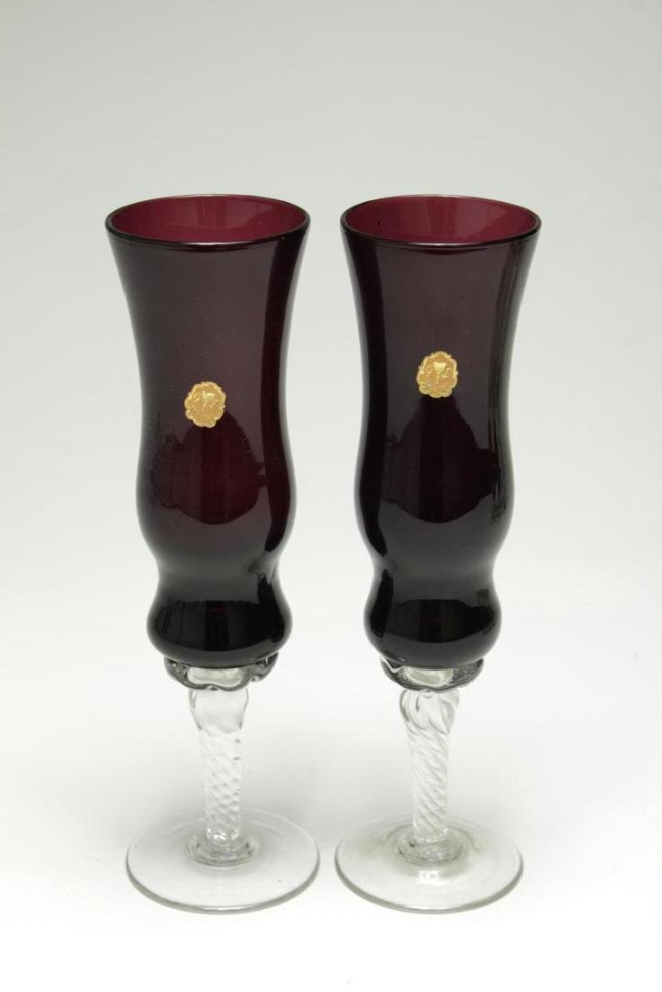 GD Cristal Venetian Colored Wine/Spirits Glasses - 4
