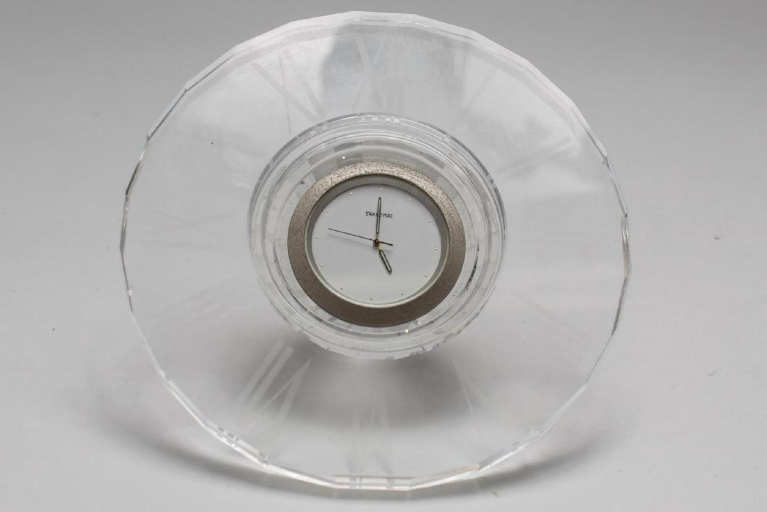 Swarovski Crystal Faceted Desk Clock - 2
