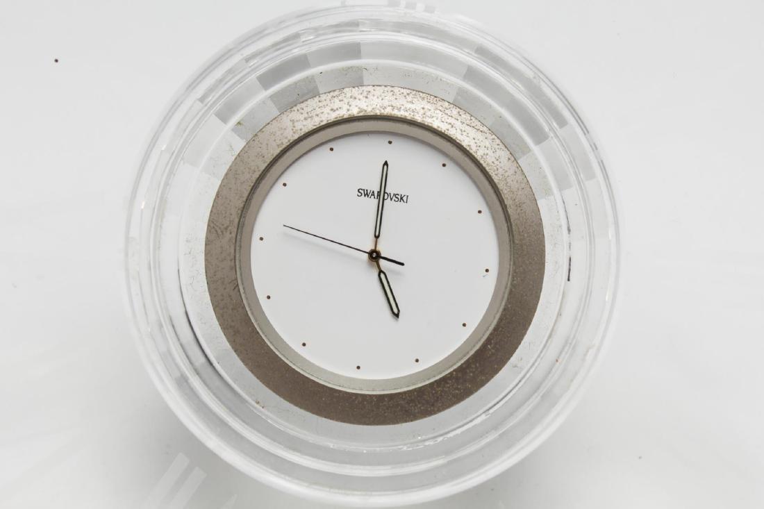 Swarovski Crystal Faceted Desk Clock - 3