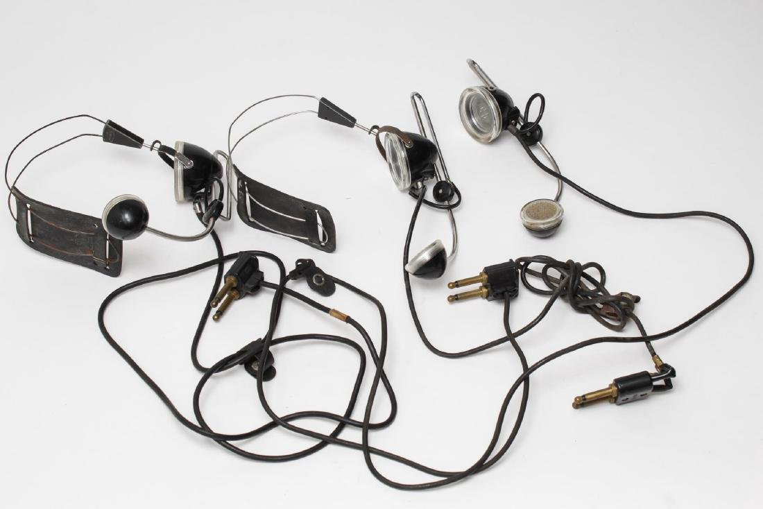 Vintage Microphone Headsets, 3