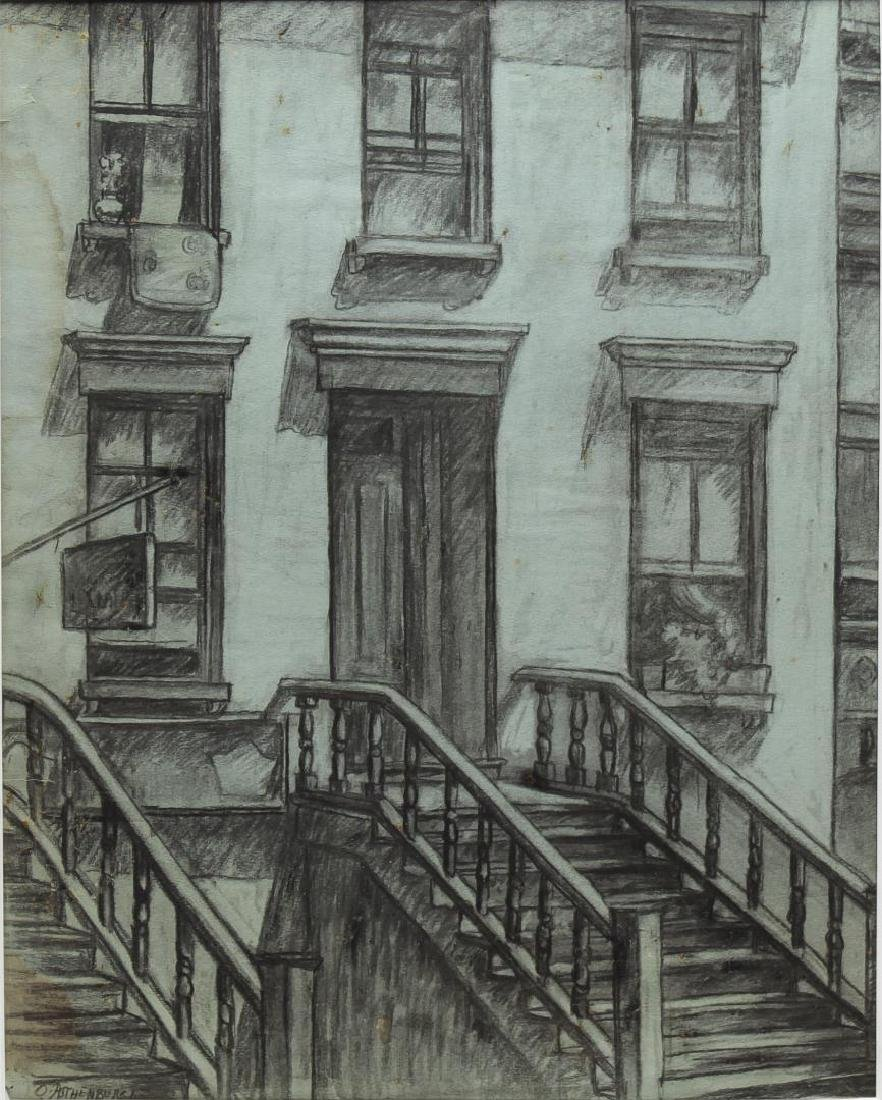 Otto Rothenburg (American, 1893-1992)- Charcoal