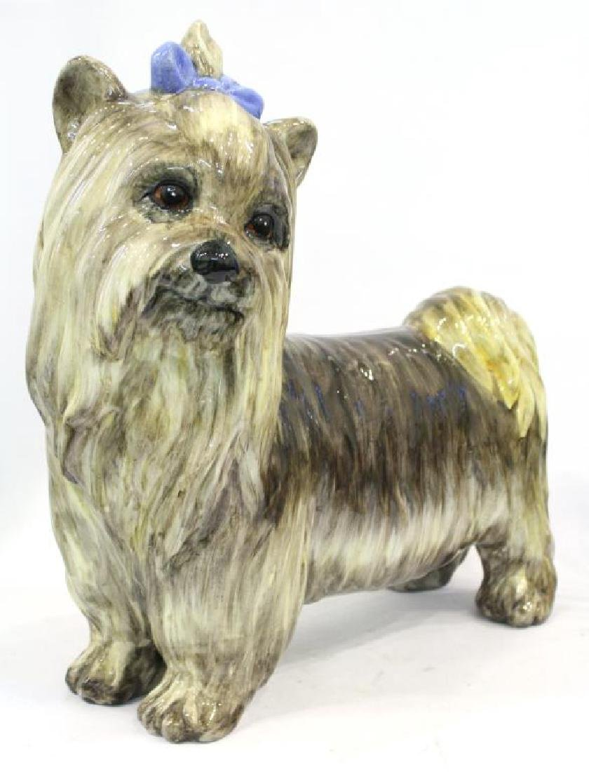 Italian Painted Ceramic Yorkshire Terrier Dog