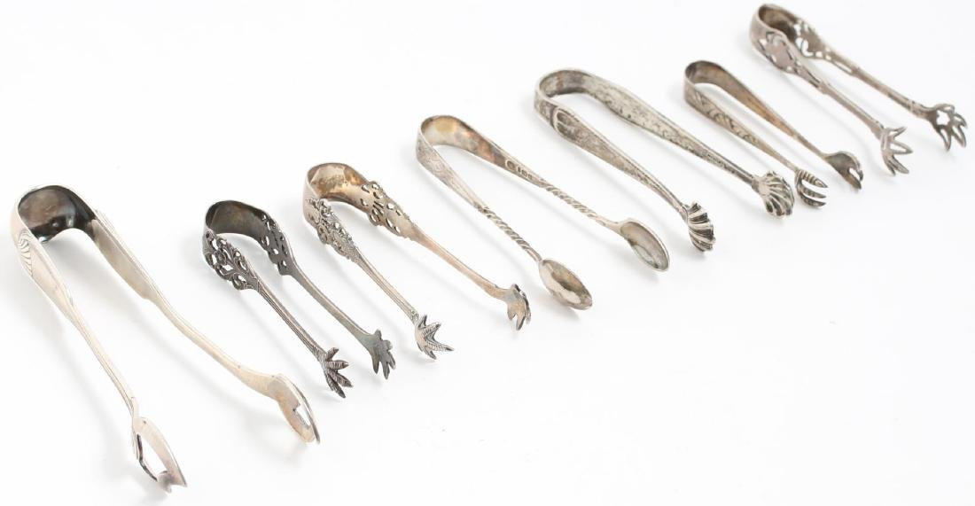 Silver Sugar Tongs, 7 Antique & Vintage