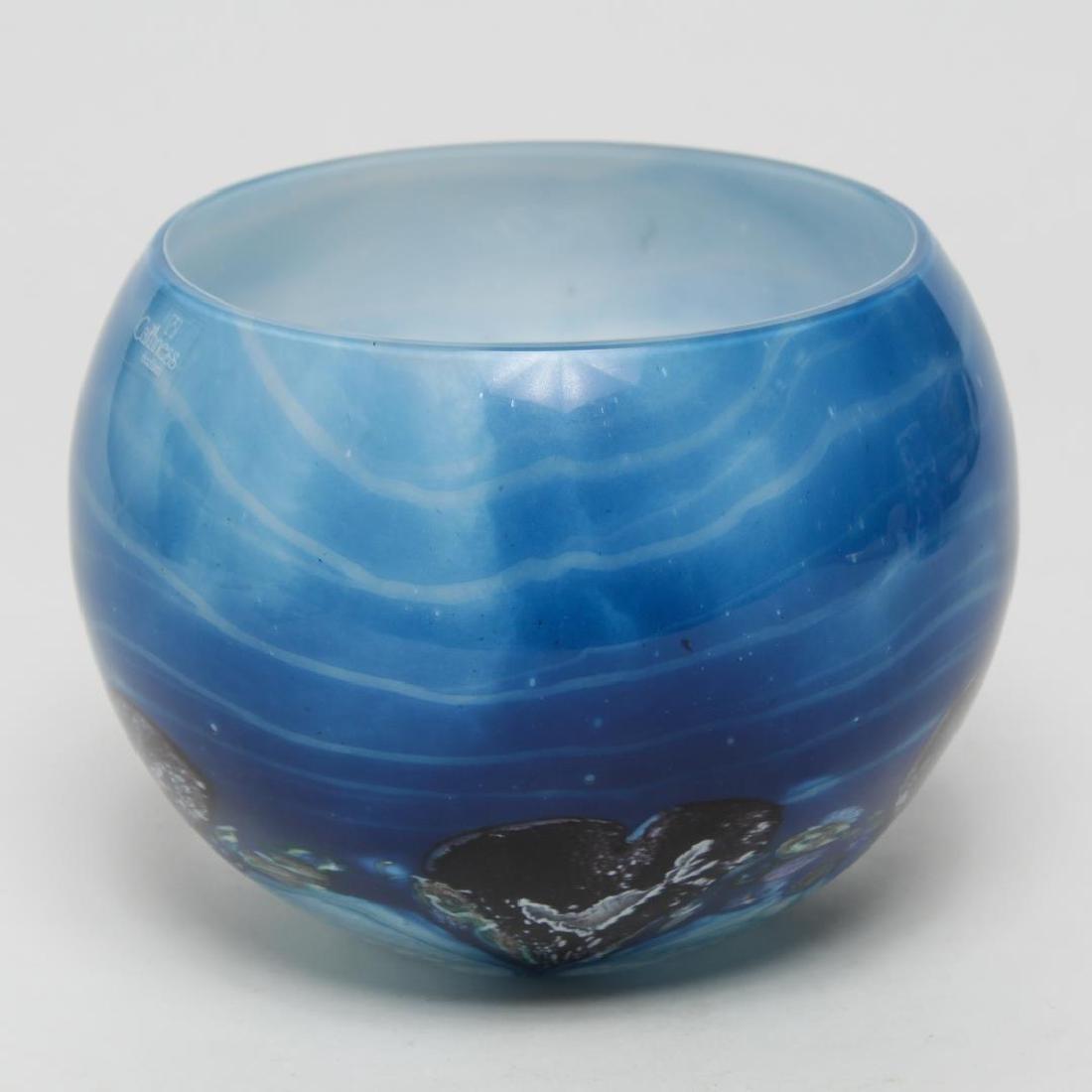 "Caithness Scotland ""Black Hearts"" Art Glass Bowl - 2"
