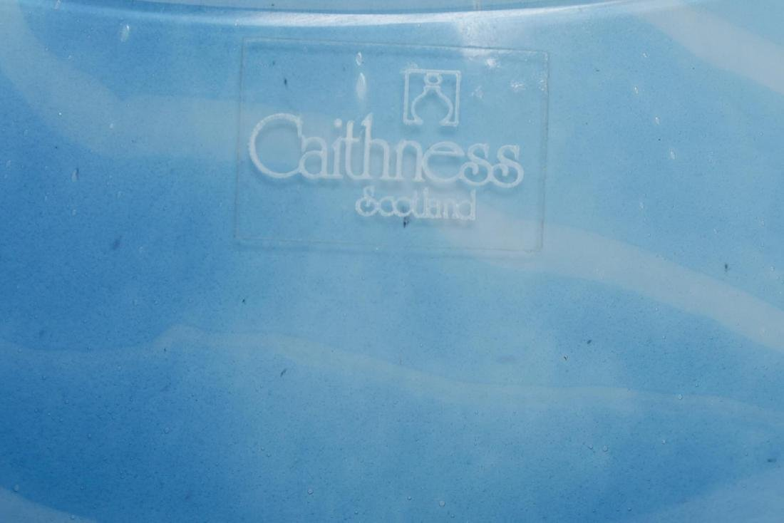 "Caithness Scotland ""Black Hearts"" Art Glass Bowl - 5"
