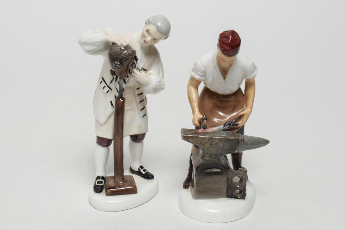 Royal Doulton Williamsburg Porcelain Figurines, 2