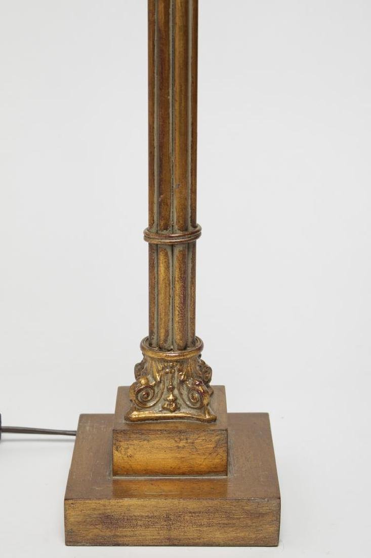 Neoclassical Table Lamp, Gilt Wood - 2