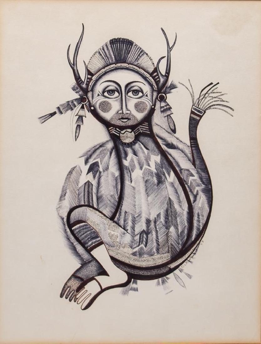 Native American Tribal Print- Signed D. Montana