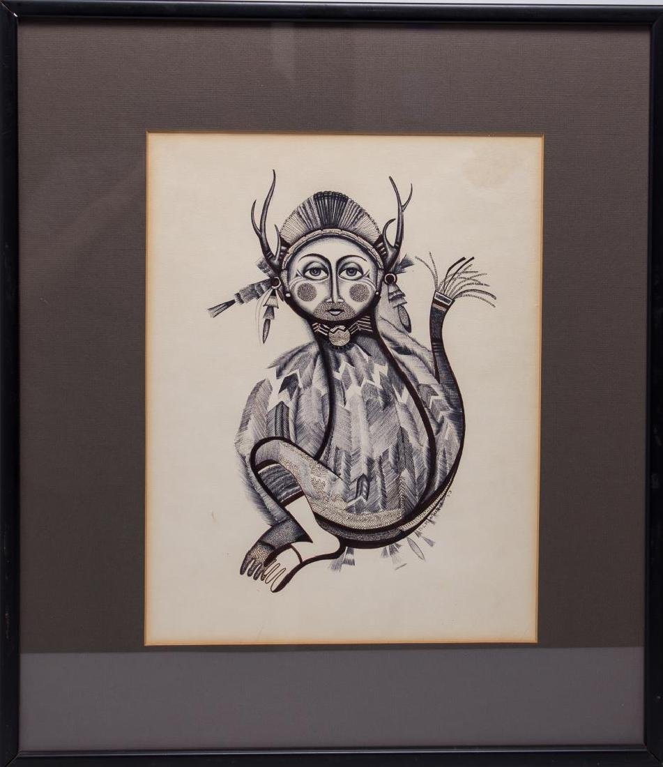 Native American Tribal Print- Signed D. Montana - 2