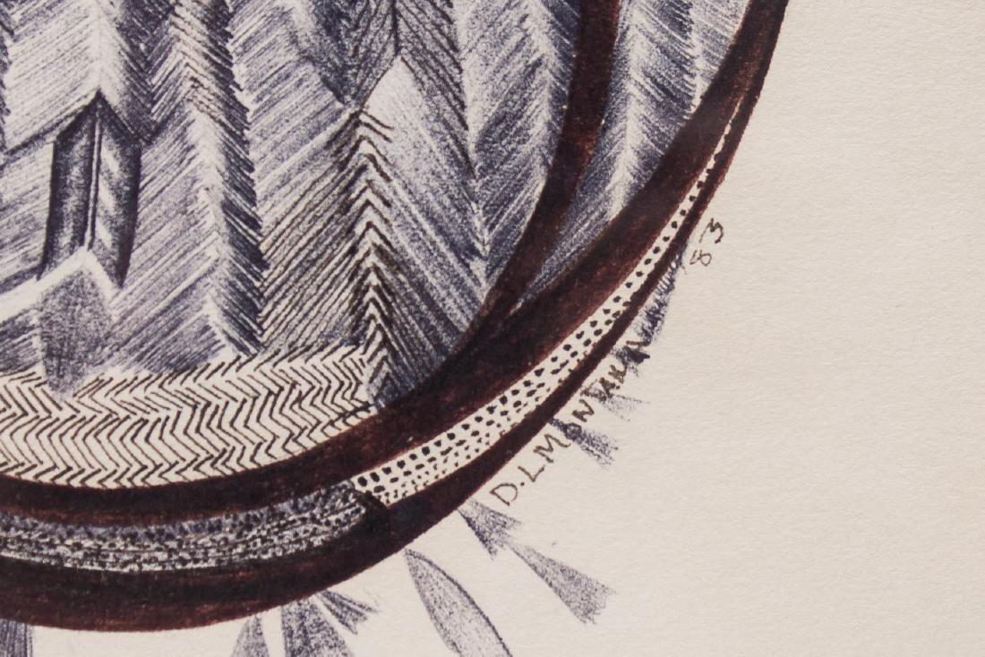 Native American Tribal Print- Signed D. Montana - 3