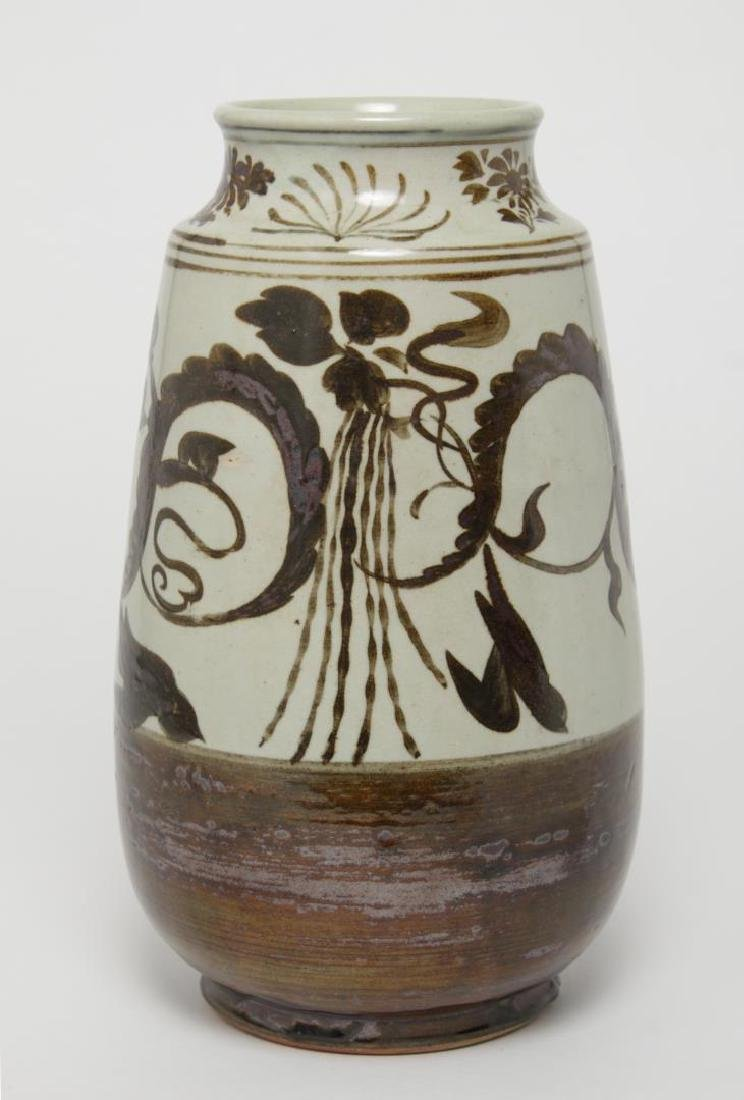 Korean Brown- & White-Glazed Choson-Style Vase