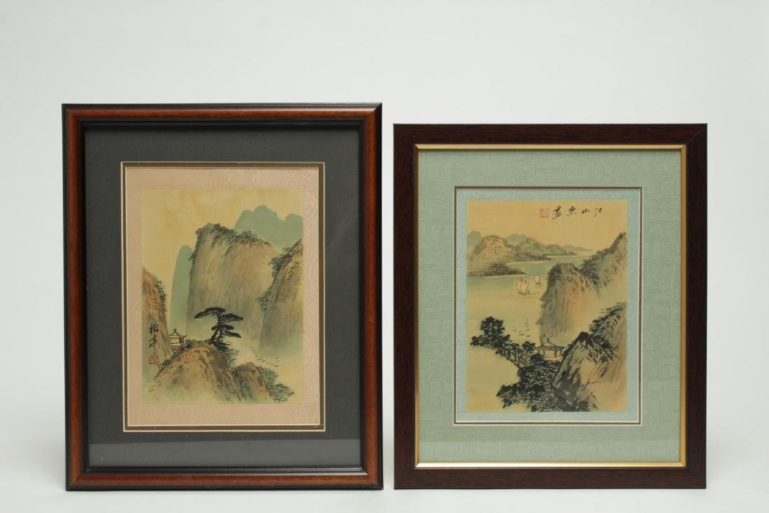Chinese Hand-Painted Landscape Pictures, 2
