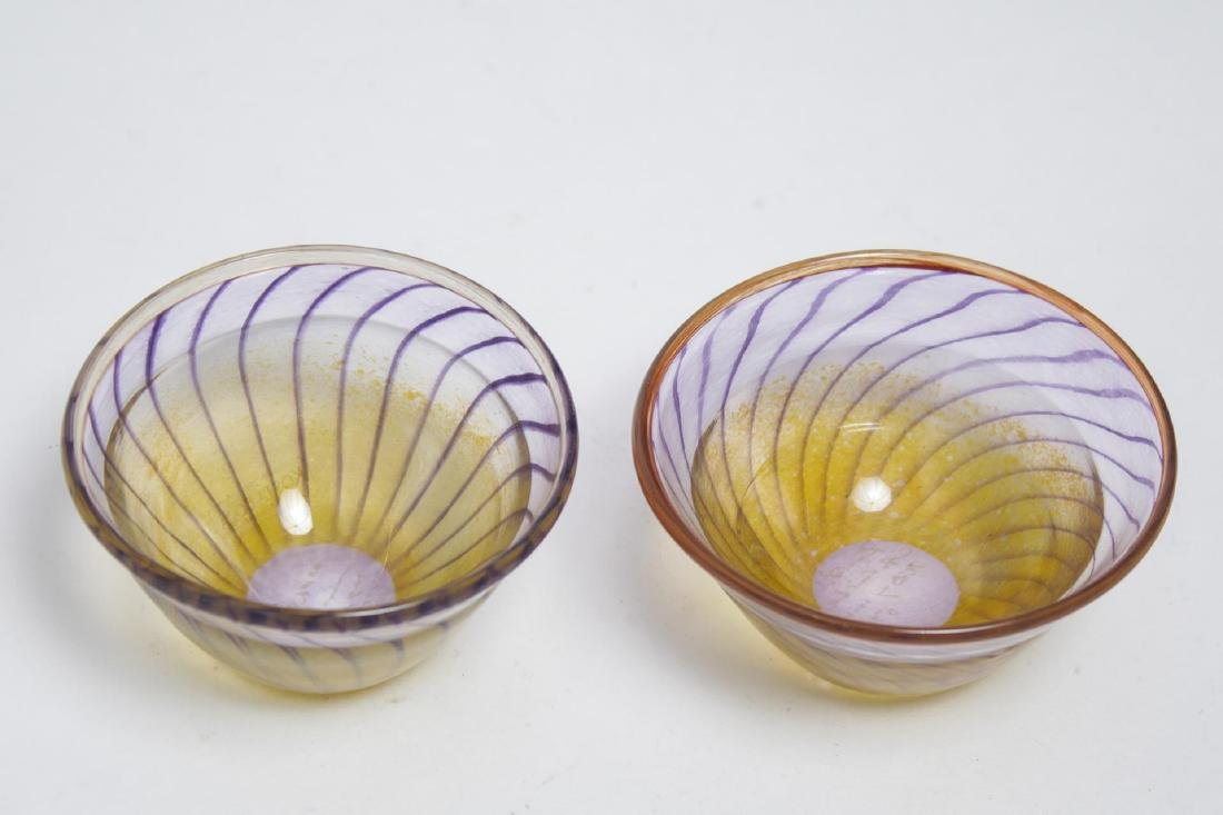 Kjell Engman Kosta Boda Swedish Art Glass Bowls- 2 - 2