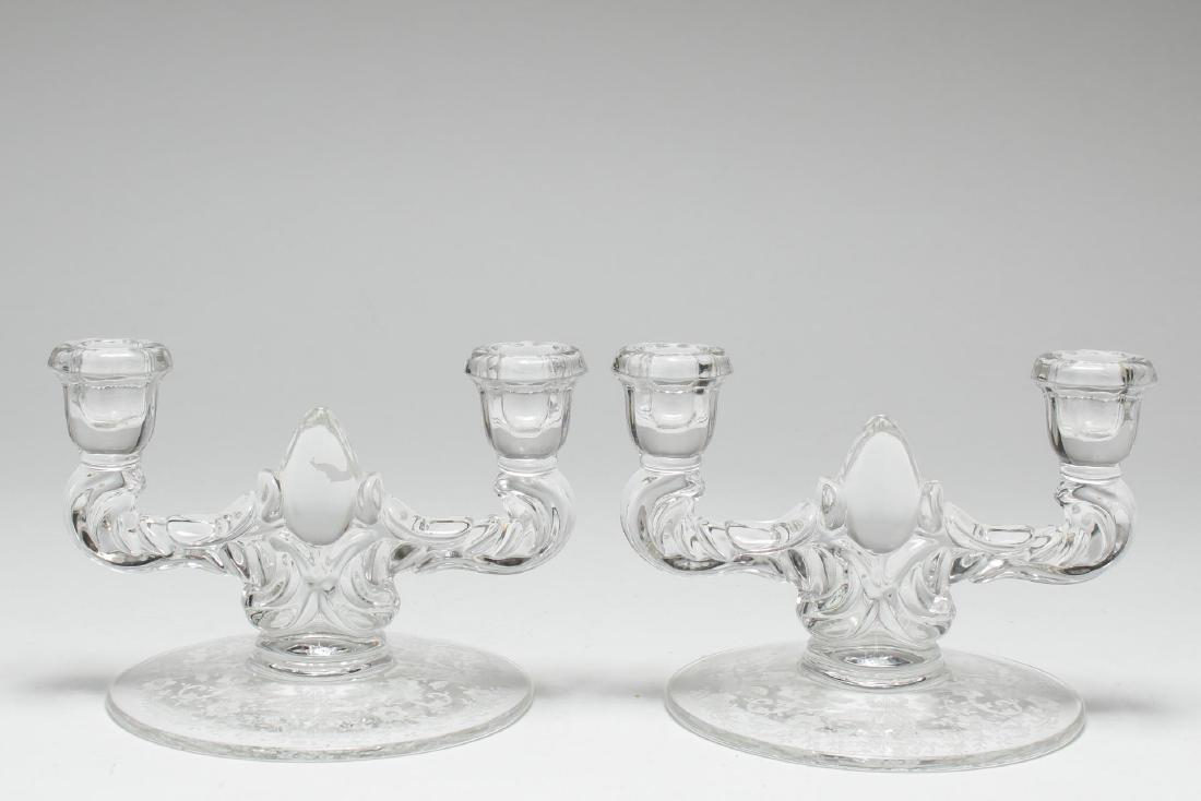 Pressed Glass Candlesticks, 2 Vintage Pair - 3