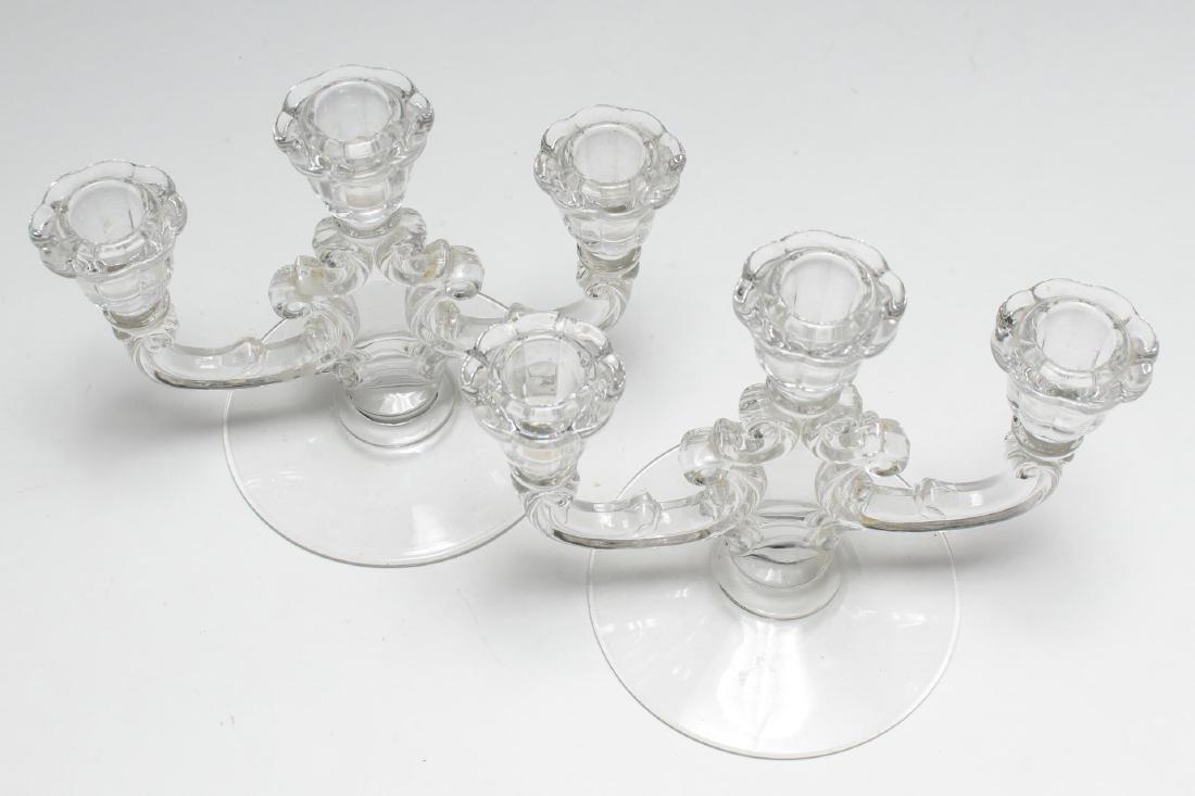 Pressed Glass Candlesticks, 2 Vintage Pair - 5