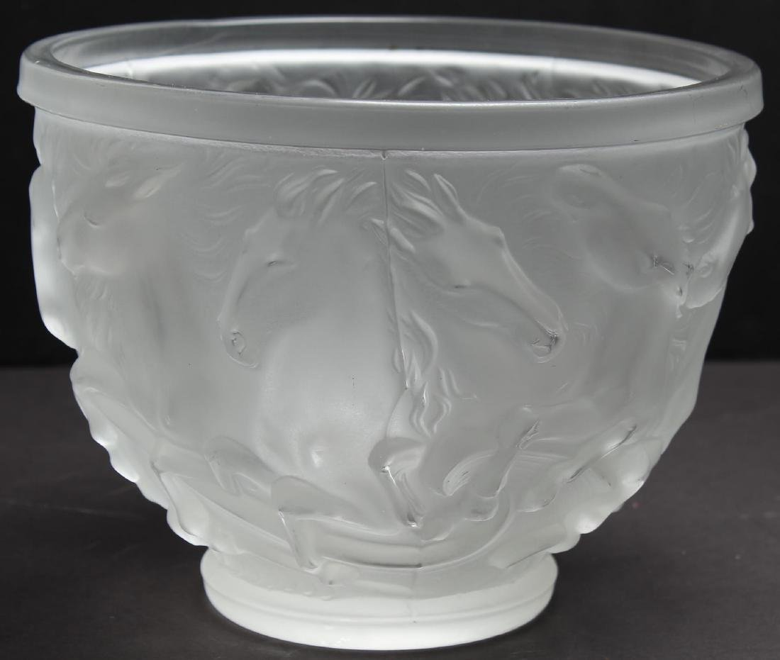 Lalique-Manner Frosted Glass Bowl