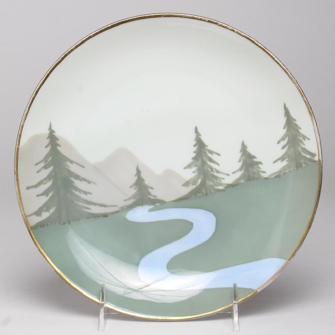 German Porcelain Decorative Wall Plaque
