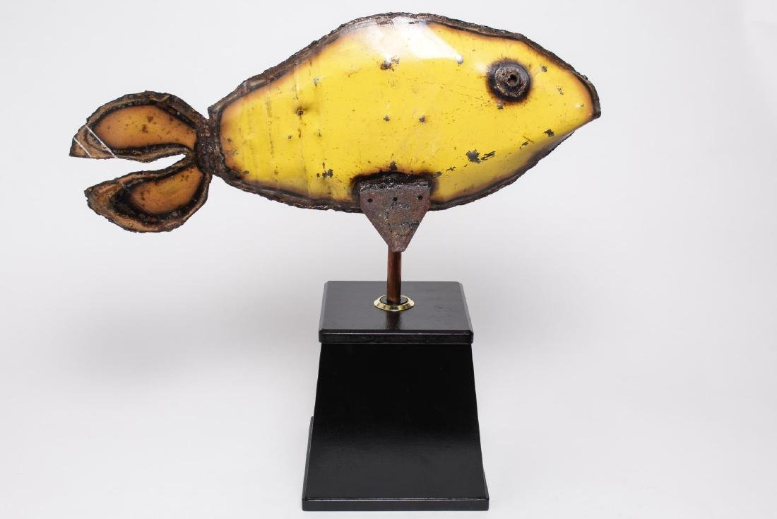 Folk Art Fish Sculpture Cut & Painted Steel