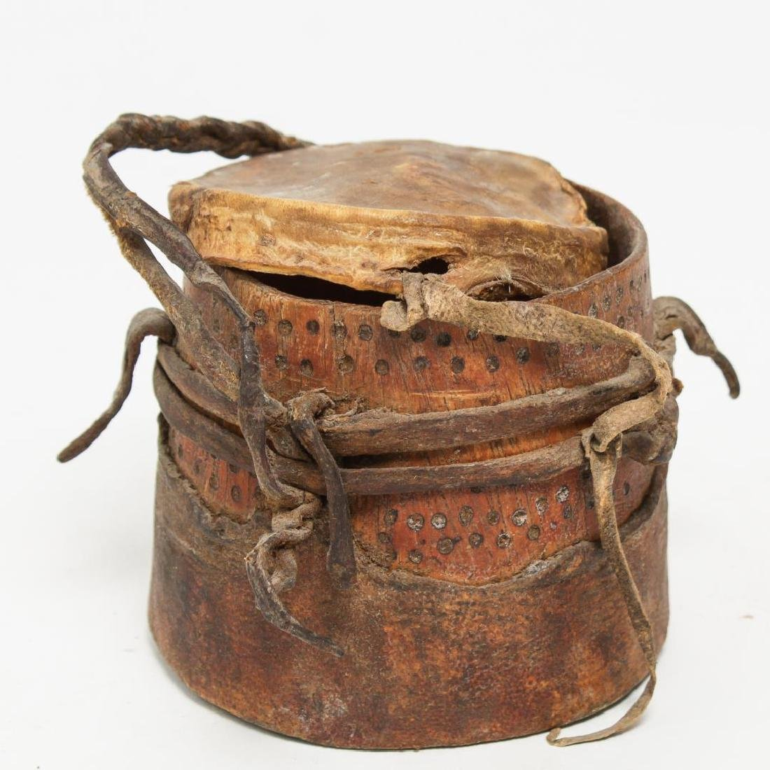 Tribal Ethnographic Gourd or Wood Containers, 3 - 5