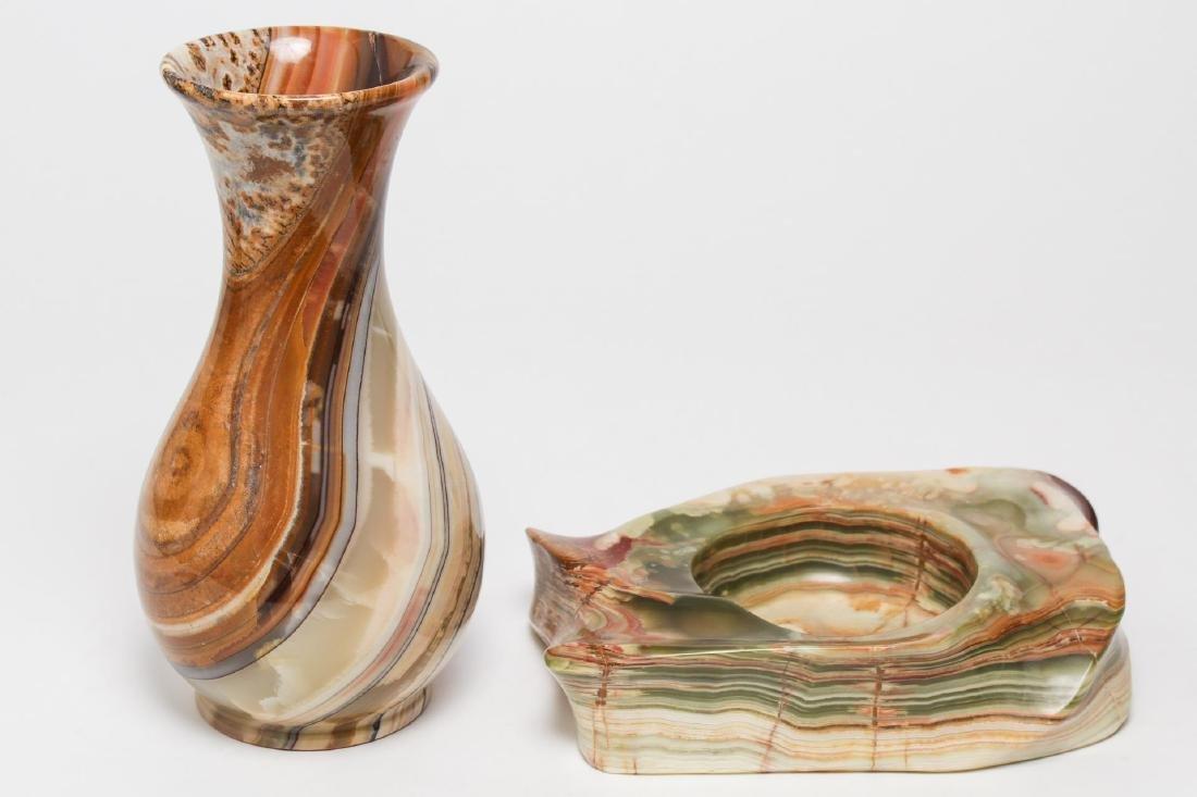 Agate Vase & Trinket Bowl or Vide Poche