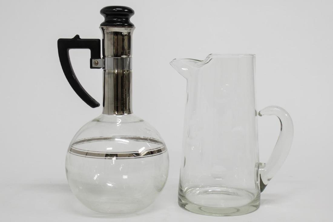 Colorless Glass Pitchers, incl. Mid-Century Modern