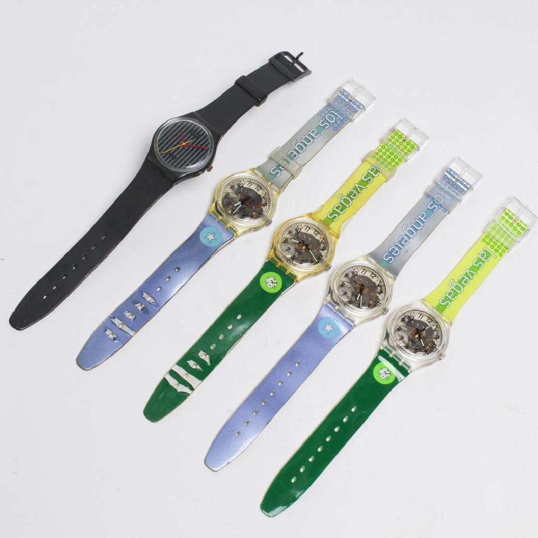 Vintage Swatch Watches, Group of 5, c. 1990s - 2