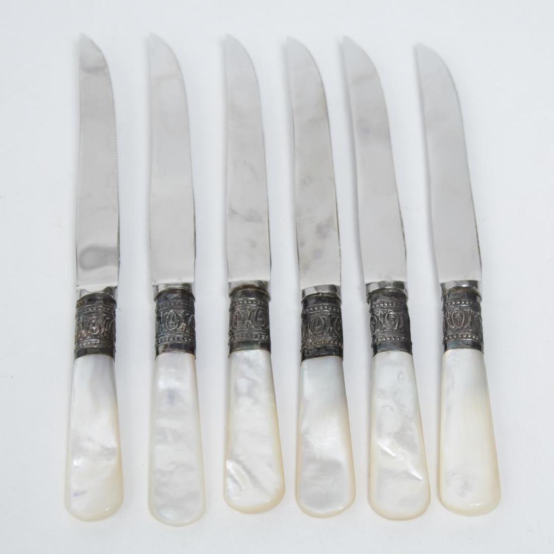 William Adams Sheffield Silver Collar Fruit Knives - 2