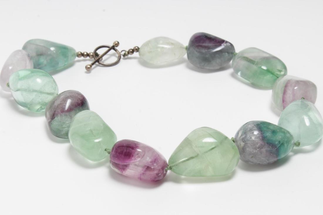 Polished Fluorite Choker Necklace, Woman's - 3