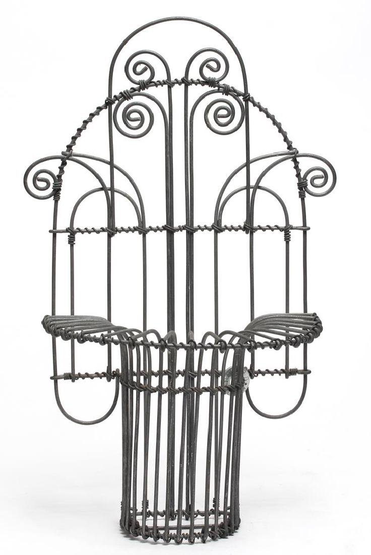 Karl Howard Art Deco-Style Wire Art Holder