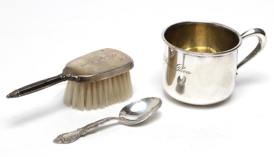 Vintage Sterling Silver Baby Articles, 3