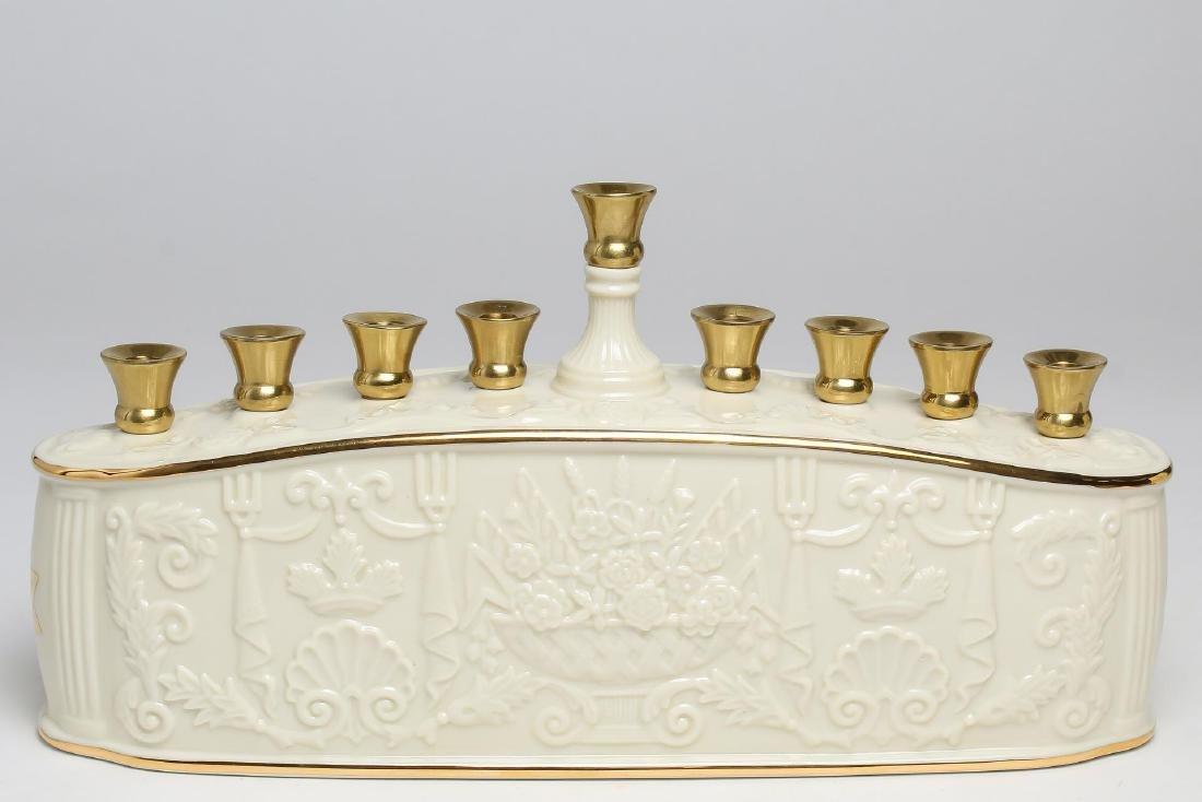 Lenox Porcelain Judaica Hanukkah Menorah