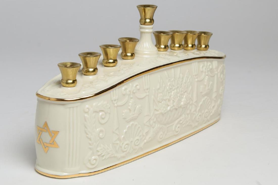 Lenox Porcelain Judaica Hanukkah Menorah - 2