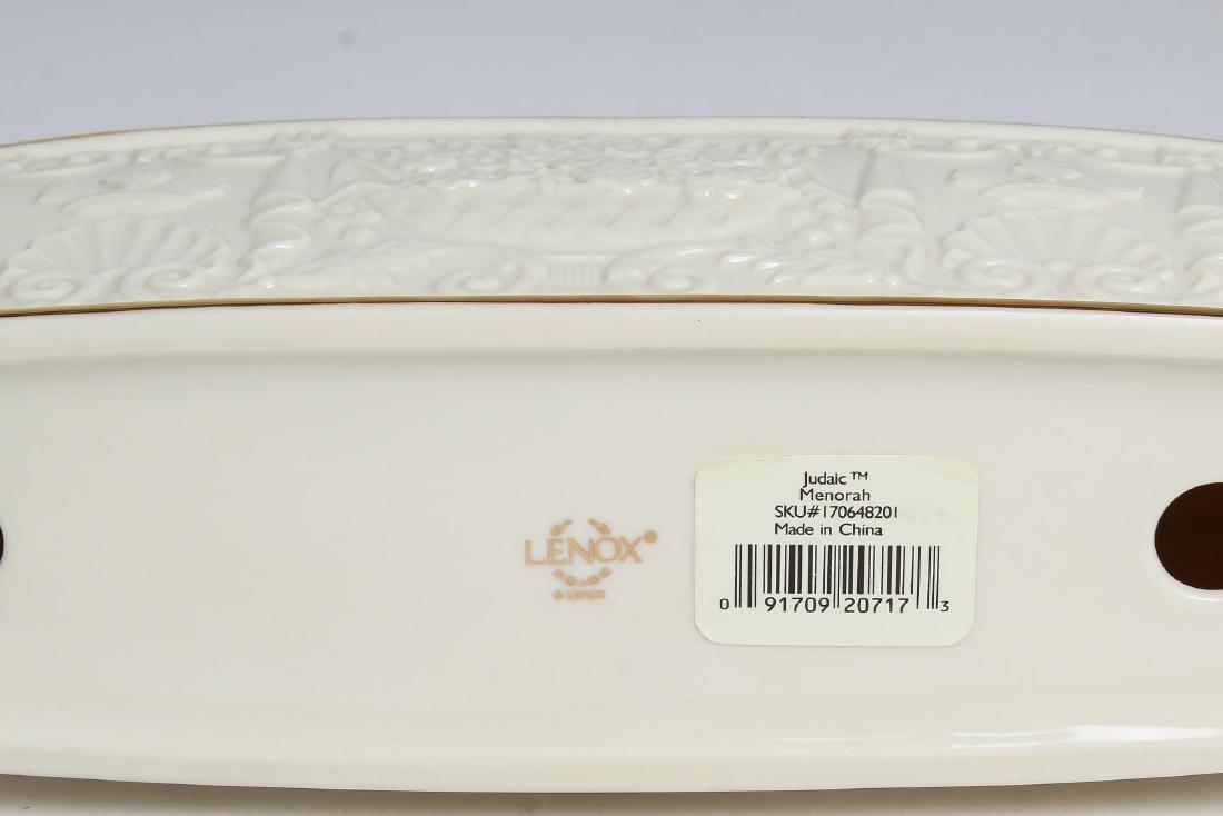 Lenox Porcelain Judaica Hanukkah Menorah - 4