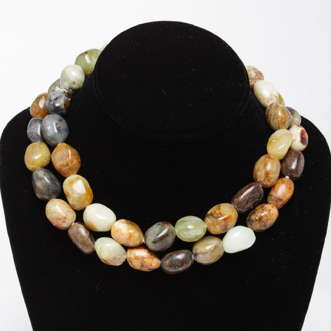 Kenneth J. Lane Layered Agate Necklace